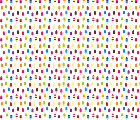 Popsicles in the Sun fabric by sosprintables on Spoonflower - custom fabric