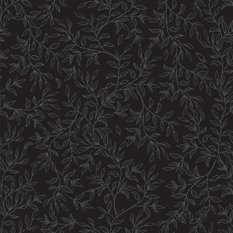 Rambling Vines - Black fabric by diane555 on Spoonflower - custom fabric