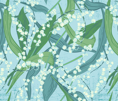 Scattered Lily of The Valley - Pastel fabric by diane555 on Spoonflower - custom fabric