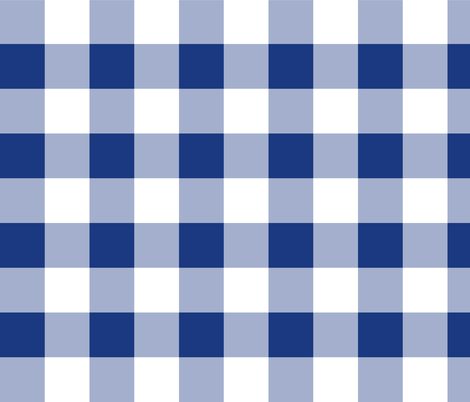 Willow Ware Blue and White Gingham with Savoy Blue fabric by peacoquettedesigns on Spoonflower - custom fabric