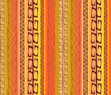 Nipa Hooks (coral) fabric by madtropic on Spoonflower - custom fabric