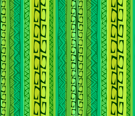 Nipa Hooks (green) fabric by madtropic on Spoonflower - custom fabric