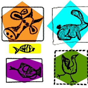 animal doodle colors