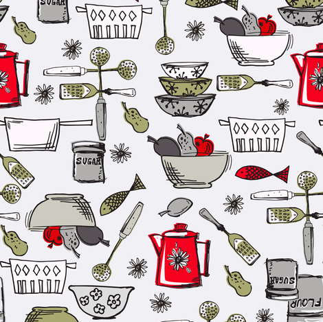 The Painted Pantry - Cooking fabric by diane555 on Spoonflower - custom fabric