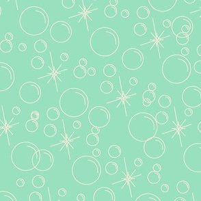 Bubbles- Mint Background