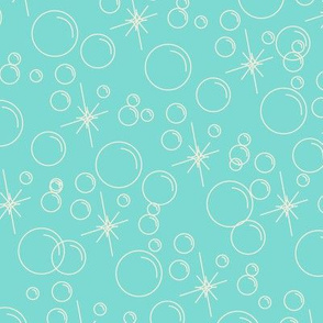 Bubbles- Turquoise Background