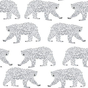 polar bear grey and white nursery baby cute
