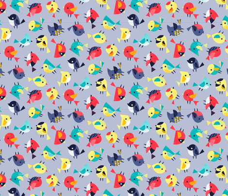 dizzybirds fabric by katuno on Spoonflower - custom fabric