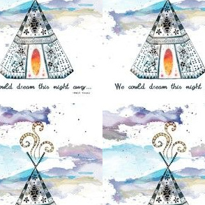 dream the night away teepee