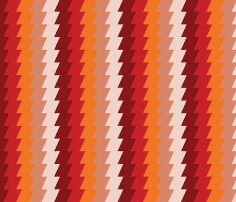 Rusty Ziggies fabric by anniecdesigns on Spoonflower - custom fabric