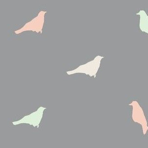 pastel birds