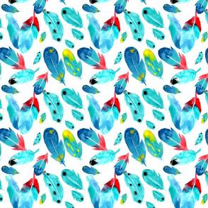 Fallen Feathers in Watercolour
