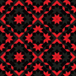 Geometric pattern of rhombus and squares