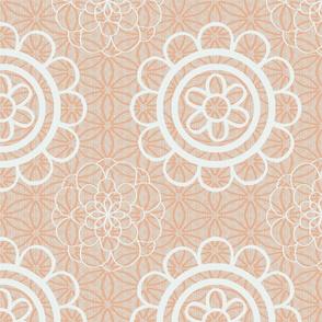 Floral Mandala - Peach