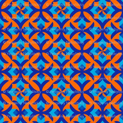 Decorative seamless patterns with geometric ornament