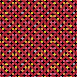 Blended Dots on Checkerboard Background