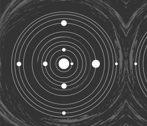 Solar system fabric jelliclestudio spoonflower for Solar system fabric