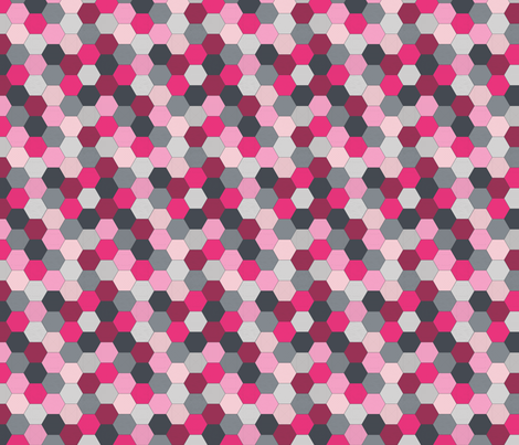 Hexagons Pink fabric by ineedewe on Spoonflower - custom fabric