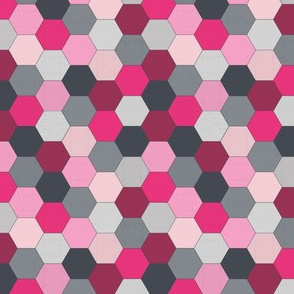 Hexagons Pink