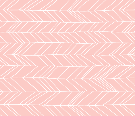 Featherland Rose Quartz/White (X-LARGE) rotated fabric by leanne on Spoonflower - custom fabric