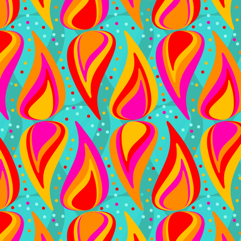 Winter Flame fabric by arwenartanddesign on Spoonflower - custom fabric