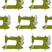 Sew Vintage Sewing Machines in Avocado