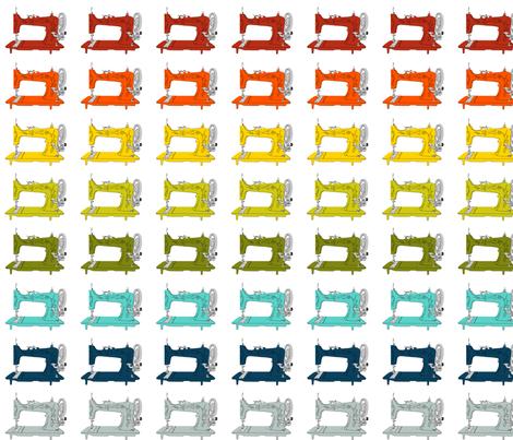 Sew Vintage Sewing Machines Rainbow fabric by kelseycreates on Spoonflower - custom fabric