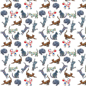 Retro Pattern Cats