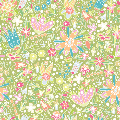 Spring is here fabric by stewsha on Spoonflower - custom fabric