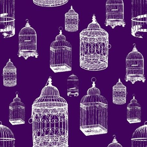 Antique Bird Cages - Deep Purple
