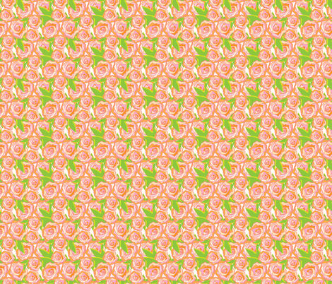 Peach Rose Floral_Miss Chiff Designs fabric by misschiffdesigns on Spoonflower - custom fabric