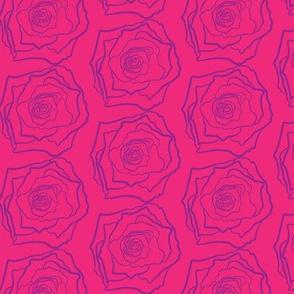 17-03Q Purple Rose on Hot Pink _ Miss Chiff Designs