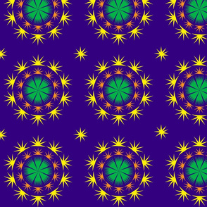 Spiky starry violet pattern