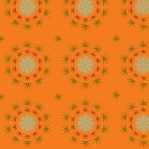 Spiky starry pale orange pattern
