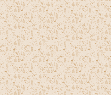 champignon_spoonflower-ed fabric by fmppstudio on Spoonflower - custom fabric