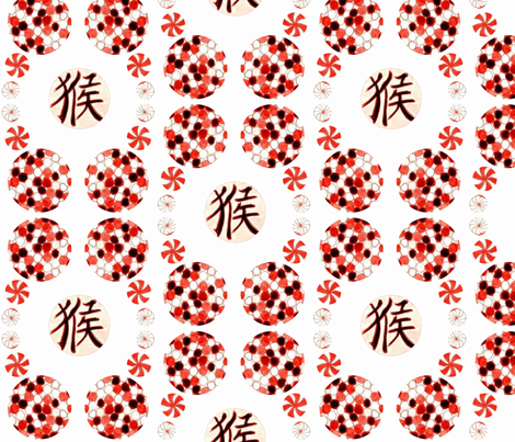 Chinese Balls - White fabric by heckadoodledo on Spoonflower - custom fabric