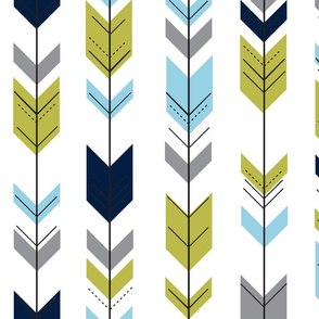 fletching arrows // navy/olive/grey/blue
