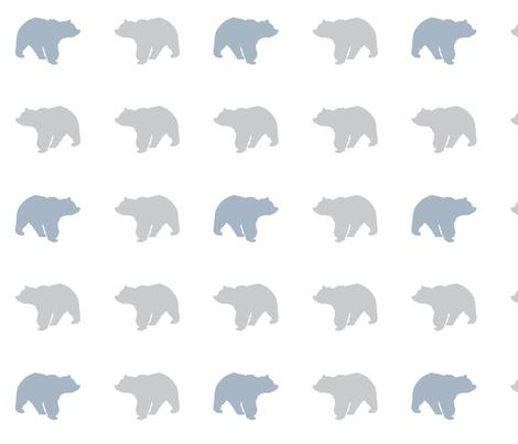 bear // wild lake fabric by littlearrowdesign on Spoonflower - custom fabric