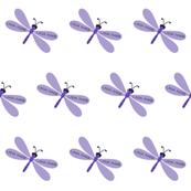 Dragonflies LG - purple personalized LANA MARIE