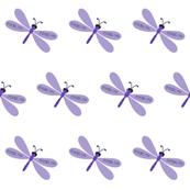 Dragonflies LG - purple personalized Jocelyn