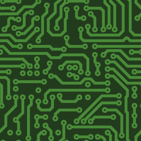 Circuits // Green fabric by thinlinetextiles on Spoonflower - custom fabric