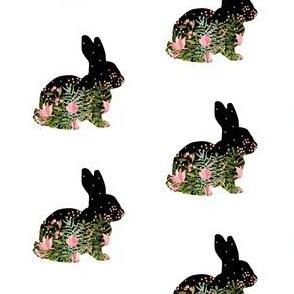 Fancy Floral Bunny