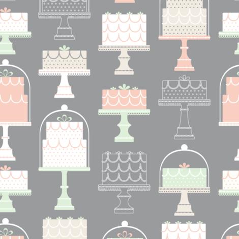 Wedding Cake Shoppe fabric by runningriverdesign on Spoonflower - custom fabric