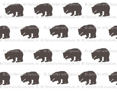 Bears in Chocolate Brown