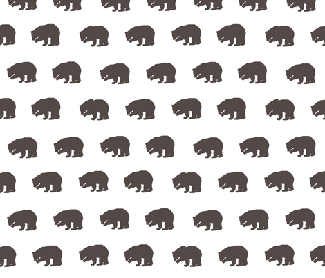 Bears in Chocolate Brown fabric by sproutz on Spoonflower - custom fabric