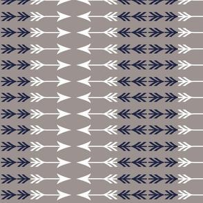 Navy and White arrow stripe