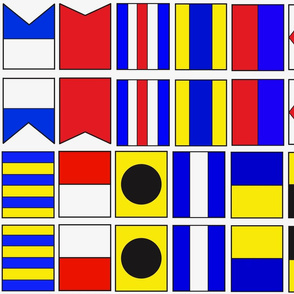 Nautical Flags letters A-L (1/3)