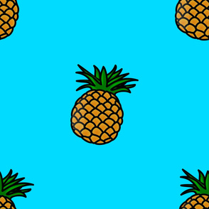 Blue & Pineapple