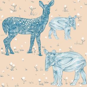 Tapirs and Deer