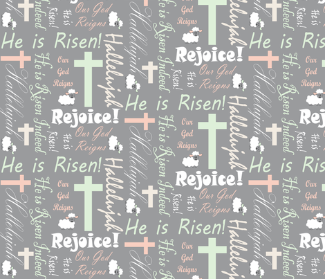 Our God Reigns fabric by pamelachi on Spoonflower - custom fabric